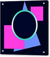 Squares And Triangle Subsumed By Circle Acrylic Print