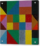 Squares And Triangles  Acrylic Print
