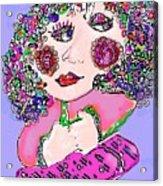 Squatting Lady Acrylic Print