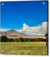Squaw Butte And Little Butte Acrylic Print
