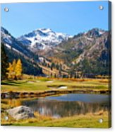 Squaw Valley In The Fall Acrylic Print