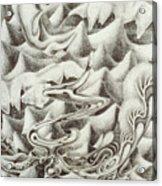 Squidmus Abstractus Acrylic Print by Sean Imler