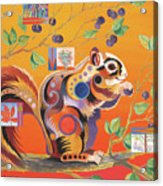 Squirrelling Away Acrylic Print by Bob Coonts