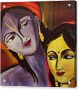 Sreekrishna With Radha Acrylic Print