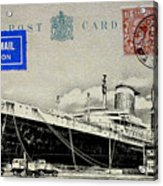 Ss United States - Post Card Acrylic Print
