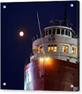 Ss William A Irvin At Night Acrylic Print