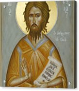 St Alexios The Man Of God Acrylic Print by Julia Bridget Hayes