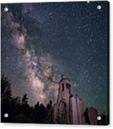 St. Aloysius Church Ruin Under The Stars Acrylic Print