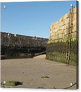 St Andrews Pier At Low Tide Acrylic Print