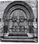 St Ann Church - Bw Acrylic Print