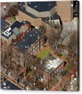 St Anthony Hall And St Elmo Fraternity Houses University Of Pennsylvania Acrylic Print by Duncan Pearson