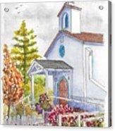 St. Anthony's Catholic Church, Mendocino, California Acrylic Print