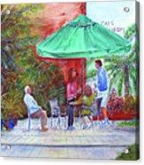 St. Armand's Circle Cafe Scene Acrylic Print