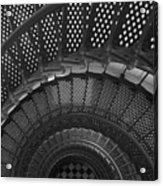 St. Augustine Lighthouse Spiral Staircase I Acrylic Print
