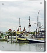 St Augustine Marina From The Water Acrylic Print