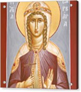 St Barbara Acrylic Print by Julia Bridget Hayes