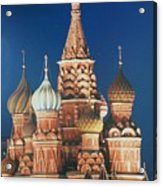 St Basil's By Night Acrylic Print