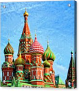 St. Basil's Cathedral Moscow Acrylic Print