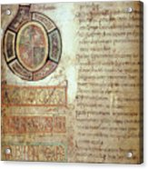 St. Bede, Manuscript Acrylic Print