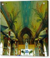 St Benedicts Painted Church 6 Acrylic Print