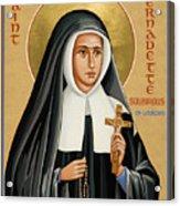 St. Bernadette Of Lourdes - Jcbsl Acrylic Print