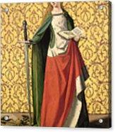 St. Catherine Of Alexandria Acrylic Print by Josse Lieferinxe