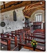 St Celynnin Church  Interior Acrylic Print