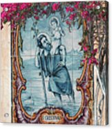 St Christovao -st Christopher Acrylic Print