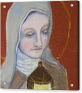 St. Clare Of Assisi II Acrylic Print by Susan  Clark