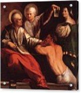 St Cosmas And St Damian 1534 Acrylic Print