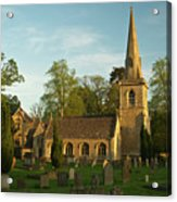 St Davids Church Cemetery 3 Acrylic Print