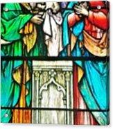 St. Edmond's Church Stained Glass Window - Rehoboth Beach Delaware Acrylic Print