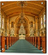 St Edward Interior Acrylic Print