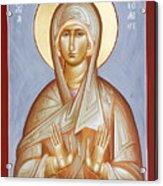 St Elizabeth Acrylic Print by Julia Bridget Hayes