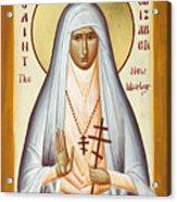 St Elizabeth The New Martyr Acrylic Print