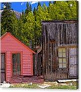 St. Elmo Pink House And Barn Acrylic Print