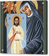 St Faustina Kowalska Apostle Of Divine Mercy 094 Acrylic Print