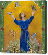 St. Francis And Birds Acrylic Print