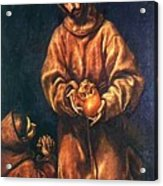St Francis And Brother Rufus 1606 Acrylic Print