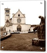 St. Francis Basilica, Assisi  Acrylic Print
