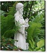 St. Francis In The Garden Acrylic Print