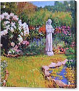 St. Francis In The Garden Acrylic Print