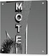 St Francis Motel Stockton Ca Acrylic Print