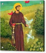 St. Francis Of Assisi Acrylic Print