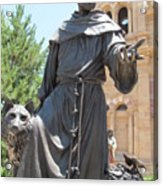 St. Francis Of Assissi Acrylic Print
