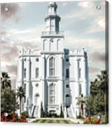 St George Temple - Tower of the Lord Acrylic Print