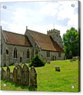 St George's Church At Arreton Acrylic Print by Rod Johnson