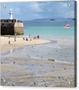 St. Ives, Harbour Beach Acrylic Print