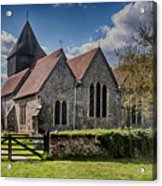 St James The Great Elmsted Acrylic Print