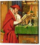 St. Jerome In His Study  Acrylic Print by Jan van Eyck